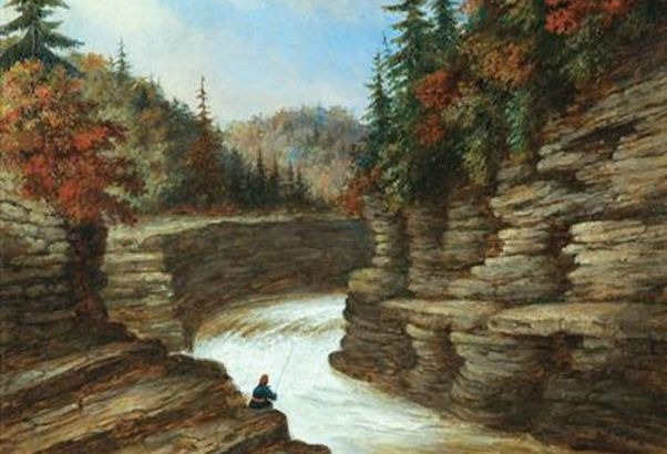 River_Gorge,_Autumn,_oil_painting_by_Cornelius_Krieghoff,_1854