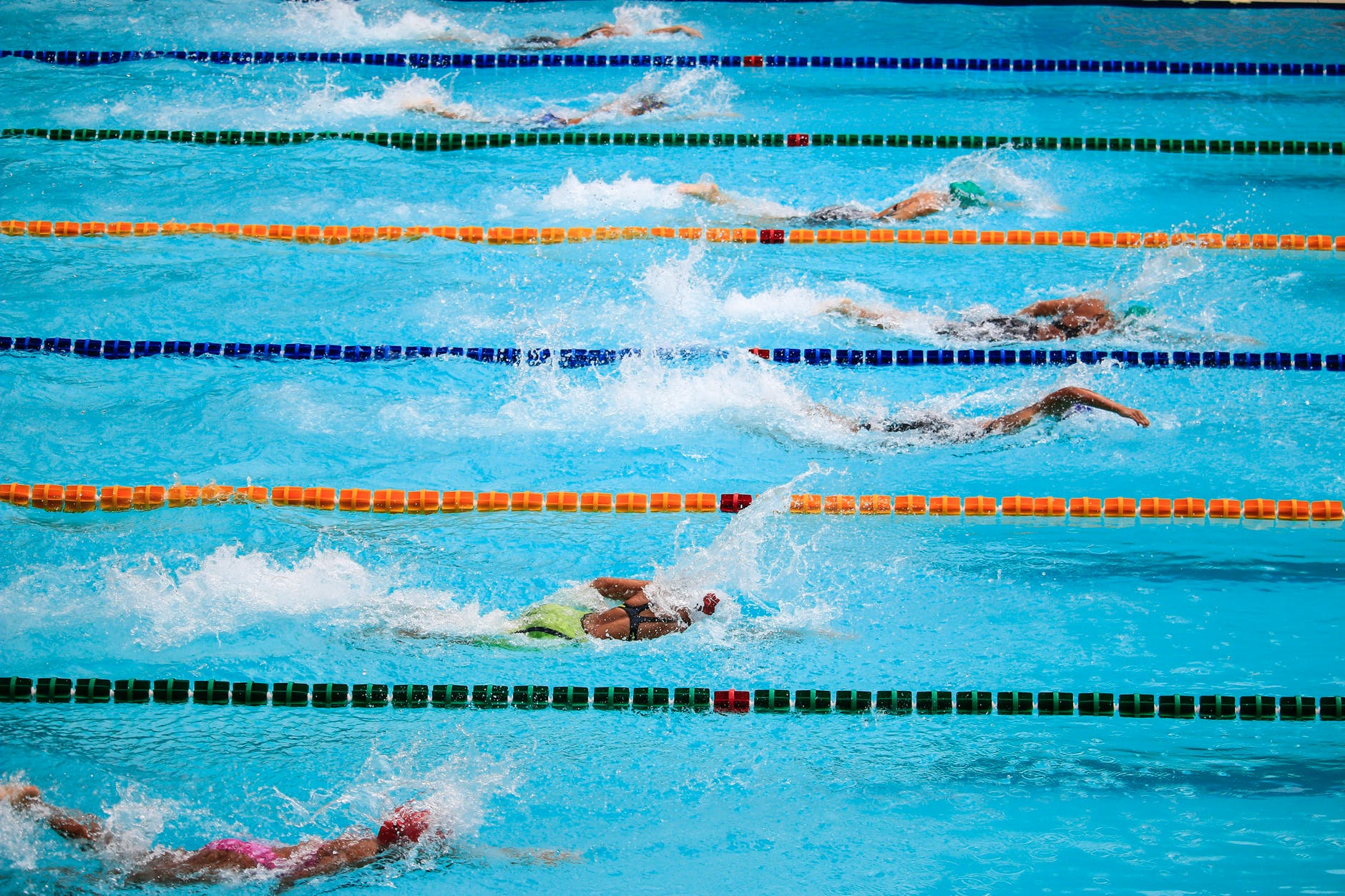 Swimming race