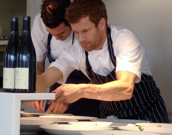 Chef Tom Aikens, working at The Cube, London.