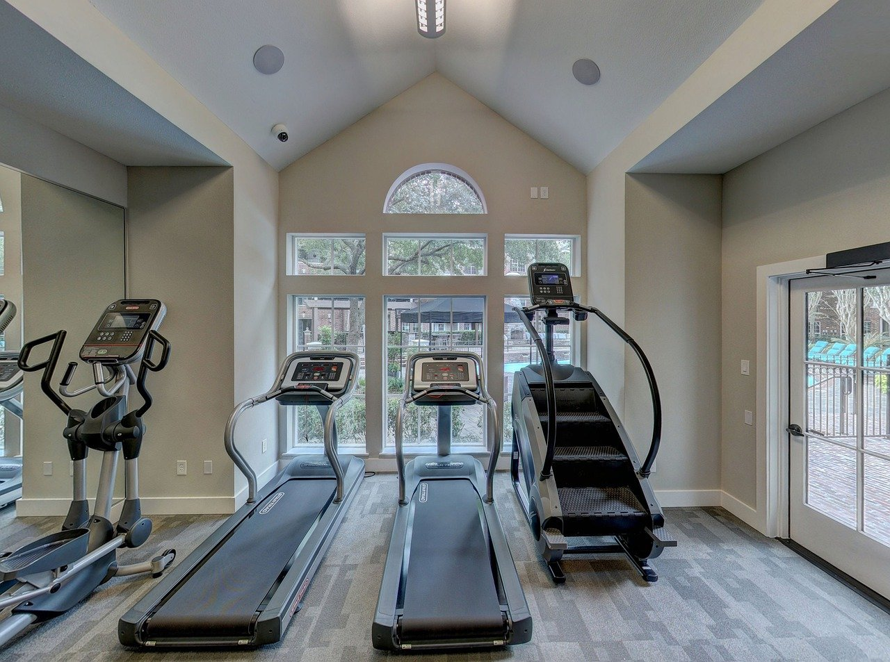 Several home devices like treadmills for exercising.